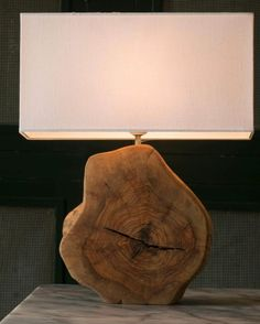 Uniquely wood lamps design ideas for work desk 7 ⋆ Main Dekor Network Rustic Lamps, Wood Lamps, Rustic Decor, Industrial Lamps, Table Lamps, Rustic Barn, Rustic Modern, Wood Lamp Base, Rustic Logo