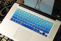 Blue gradient-decal macbook Decal for MacBook keyboard decal MacBook air sticker MacBook pro decal