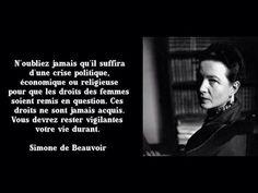 Simone de Beauvoir on Women's rights