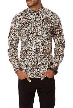Slim Fit Leopard Print Shirt   21 MEN - 2040496928