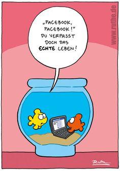Cartoon von Ruthe #facebook #humor