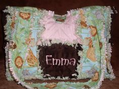 Handmade & Personalized JUNGLE BABIES Rag by ForKeepsBabyBoutique, $43.00