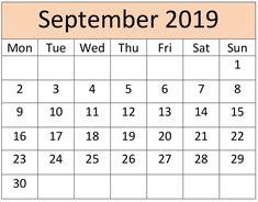 September Calendar 2019 Printable Notes and To Do list Calendar 2019 Printable, Calendar 2020, Calendar 2019 With Holidays, September Calendar, Printable Numbers, Busy Life, Word Doc, Months In A Year