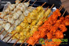 you can also BBQ them or cook them in a pan. Halal Recipes, Indian Food Recipes, Eid Recipes, Chicken Boti Recipe, Malai Chicken Tikka, Seekh Kebab Recipes, Tandoori Recipes, Tikka Recipe, Eid Food