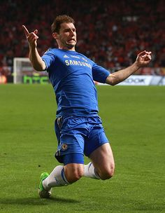 ~ Branislav Ivanovic of Chelsea FC celebrating his stoppage time winner against SL Benfica in the Europa League Final ~