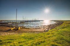 Hafen Rantum (Sylt), Boot, Ebbe, Gezeiten, Hafen, Küste, Nordsee, Rantum, Sonnenaufgang
