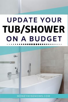 Make your bathroom look good as new when you update your tub and shower on a budget. Frugal home improvement strategies you can use to DIY a refreshed bathroom look. Use these 5 tips to update your shower for less! Tub Faucet, Shower Faucet, Shower Tub, Old Bathrooms, Small Bathroom, Shower Makeover, Renovation Budget, Floors And More