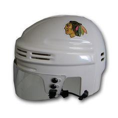 Official Licensed Mini Player Helmets - Chicago Blackhawks (White)