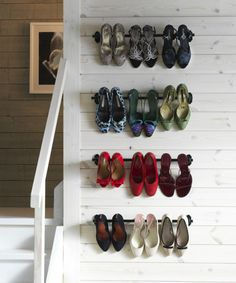 Love your shoes? Show them off (and save floor space) with some FINTORP rails!