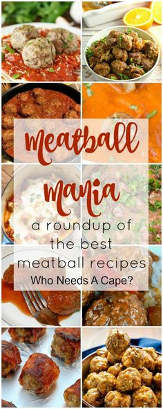 Meatball Mania a Roundup of Meatball Recipes from beef, chicken, pork and turkey there's a recipe for every taste. Perfect for holiday parties & more!