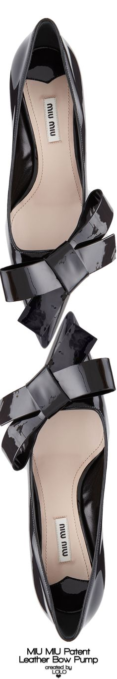 Miu Miu Patent Leather Bow Pumps | LOLO❤︎