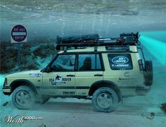 Land Rovers can go anywhere !!!!