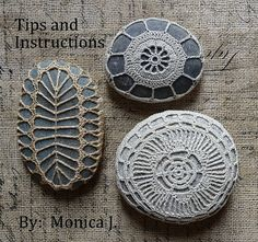 Tipps to crochet Stones - from etsy