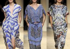 Paul & Joe S/S 2014  Tie Motifs – Small Scale Elements – Pyjama Checks and Stripes – Liberty Florals – Pattern Patchwork – Clever Overlays – Kaleidoscope Layouts – Fading and Merging Florals  Paris Fashion Week   Spring/Summer 2014   Print Highlights Part 3 catwalks