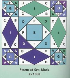 She wanted a quilt that resembles the sea and when I saw the name 'Storm at Sea', I knew this quilt was the one to make for her. It comes from a lovely book More Quilts from the Quiltmaker's Gift. The use of different sizes of triangles gives a lovely movement to the quilt.