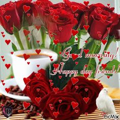 See the PicMix Good morning! belonging to on PicMix. Bday Flowers, Flower Birthday Cards, Birthday Wishes, Happy Birthday, Love You Gif, Christmas Wreaths, Christmas Ornaments, Heart Images, Good Morning Quotes