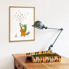Affiche encadrée Jazzy (30 x 40 cm) : Série-Golo