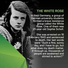 Seventy three years ago Hans and Sophie Scholl and Christoph Probst were guillotined by the Nazis in Munich for bravely opposing the Fascist Tyranny. Women In History, World History, Hans Und Sophie Scholl, Angst Quotes, All Meme, Faith In Humanity Restored, Wtf Fun Facts, Badass Women, The More You Know