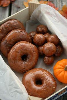 Pumpkin Doughnuts w/ Spiced Buttermilk Glaze
