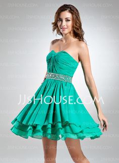 Homecoming Dresses - $124.99 - A-Line/Princess Sweetheart Short/Mini Chiffon Homecoming Dress With Ruffle Beading (022015512) http://jjshouse.com/A-Line-Princess-Sweetheart-Short-Mini-Chiffon-Homecoming-Dress-With-Ruffle-Beading-022015512-g15512?no_banner=1_source=facebook_medium=post_campaign=6005941673279_content=130814L_6
