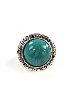 Add a unique touch with this vintage design ring and be fashionable   Colors: Turquoise, Red, Blue    Imported