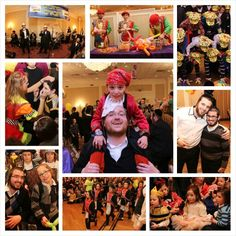 Achim Beyachad families gathered for a lavish #Purim Party featuring costumes, music, entertainment, prizes and delicious food.