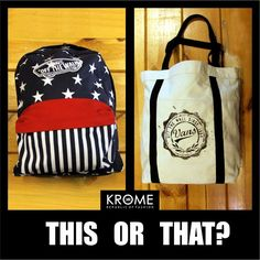Which one will you carry ? #Bags #Backpack #Handbag #Vans #Krome #ThisOrThat #FashionForAll #BagsForAll