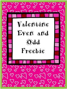 This is a free Valentine worksheet of even and odd numbers. When the student colors all of the even numbers red it forms a heart.