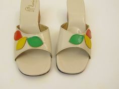 1960's Shoes MOD Carved Wedge Heels Size 7 7.5. $38.40, via Etsy.