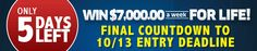 Final Countdown to 1O/13 Entry Deadline