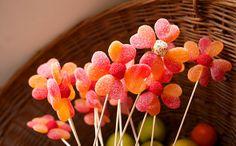 flores hechas de gominolas / cute flowers made with sweets www.elhadadepapel.com
