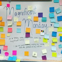 """""""Magnificent Monday with my kiddos! #miss5thswhiteboard"""""""