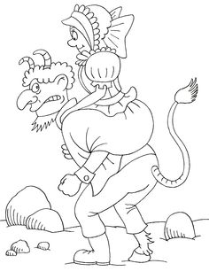Čert a Káča 02 Crafts For Kids, Arts And Crafts, Mythology, Advent, Coloring Pages, Fairy Tales, Preschool, Santa, Activities