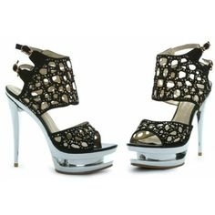 Kylie Open Mesh Black Sandal by Bettie Page Shoes by Ellie are $95.00 are awesome!