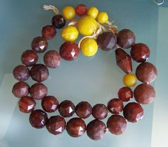 Faceted Agate beads . Produced in Idar Oberstein.n Germany
