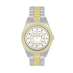 Circle of Fifths Time for Music Gold Wrist Watches