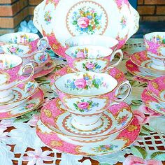 Hey, I found this really awesome Etsy listing at https://www.etsy.com/listing/216380635/royal-albert-lady-carlyle-tea-set-for