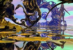"Bryce, Series ""Otherworld"", 1999/2000 Natural Forms, Stunningly Beautiful, Fractals, Surrealism, Digital Art, Explore, Landscape, World, Artist"