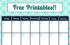 free printable blank calendar and weekly planner for binder