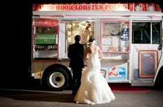 Who would have thought food trucks would be trending in the wedding world? Once thought of as carnival food, the food truck has been dres. Food Truck Wedding, Wedding Reception Food, Wedding Catering, Wedding Night, Dream Wedding, Food Truck Party, Wedding Trends, Trendy Wedding, Wedding Ideas
