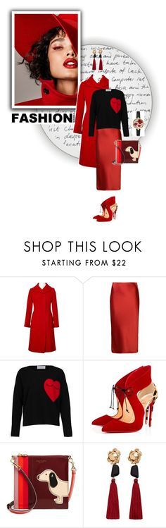 """Red Femme"" by dragonfly-lt ❤ liked on Polyvore featuring Dolce&Gabbana, Proenza Schouler, Christian Louboutin, Tory Burch, MANGO and Kate Spade"