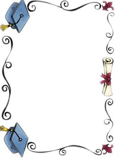 graduation kinder page border - - Yahoo Image Search Results Graduation Clip Art, Preschool Graduation, Graduation Cards, Borders For Paper, Borders And Frames, School Border, School Frame, Stationary School, Page Borders
