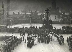 Funeral cortege of the Emperor Franz Joseph I of Austria-Hungary, Vienna, November, 1916.