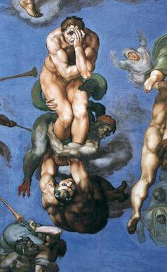 Miguel Angel, El juicio final (detalle), Capilla Sixtina (Ciudad del Vaticano)