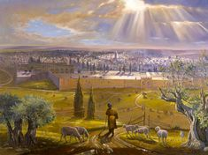 Love For His People: Jerusalem - the Old City and more. Beautiful artwork and paintings by Alex Levin of Tel Aviv, Israel Old City Jerusalem, Temple In Jerusalem, Jewish Art, Religious Art, Oil Painting On Canvas, House Painting, Christian Cartoons, Arte Judaica, Christian Pictures