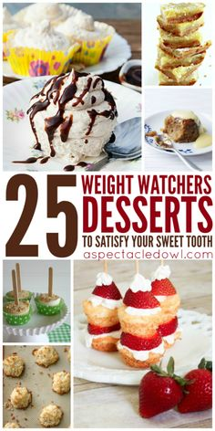 These 25 Weight Watchers Desserts will help to satisfy your sweet tooth, while also helping you stay on plan!