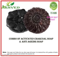 Bath & Shower Arnved Combo of Activated Charcoal & Anti Ageing Soap  Product Name: Arnved Activated Charcoal Soap-Pack Of 3 Brand Name: Arnved Type: Scrub Multipack: 3 Country of Origin: India Sizes Available: Free Size *Proof of Safe Delivery! Click to know on Safety Standards of Delivery Partners- https://ltl.sh/y_nZrAV3  Catalog Rating: ★4 (160)  Catalog Name: Arnved Superior Brightning Bath Scrubs & Soaps CatalogID_931777 C52-SC1302 Code: 412-6122185-