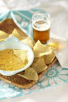 Warm Pimento Cheese and Chips 8 ounces cheddar cheese 1/2 cup ...