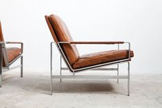 Lounge Armchairs Modell FK 6720 by Preben Fabricius and Jørgen Kastholm   From a unique collection of antique and modern lounge chairs at https://www.1stdibs.com/furniture/seating/lounge-chairs/
