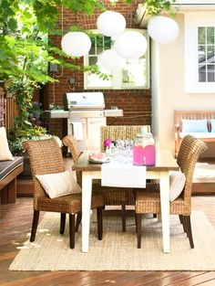 outdoor dining spot